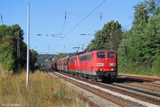 DT 151 038 + 151 083 mit GM 48745 Maasvlakte - Neunkirchen (Saar) Hbf, Dudweiler 07.09.2016