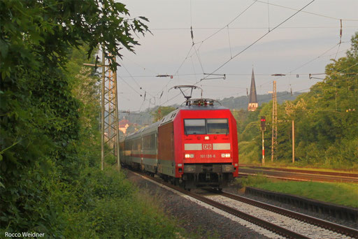 101 138 mit IC 2053 Saabrücken Hbf - Stuttgart Hbf, Dudweiler 12.06.2013