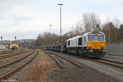 77 002 mit M 62610 Baumholder - Trauen (Sdl. Militär), 09.02.2017