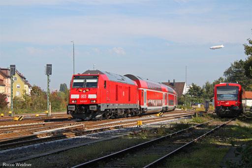 245 037 mit IRE 4224 Lindau Hbf - Stuttgart Hbf, Friedrichshafen 22.09.2017