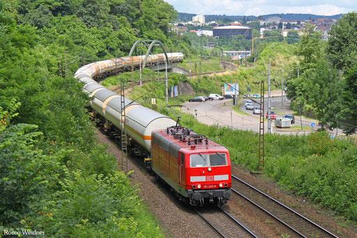 181 205 mit GC 49980 (Subotica/SRB) Passau Gbf - Forbach/F (Saaralbe) (Sdl. Kohlenwasserstoff), Saarbrücken 13.07.2016