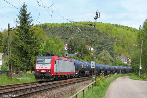 4008 mit DGS 52445 Köln-Eifeltor - Luxembourg Triage/L, Scheidt(Saar) 11.05.2017