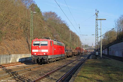 181 213 mit EK 55884 Neunkirchen(Saar) Hbf - Saarbrücken Raf Nord, Jägersfeude 10.12.2016