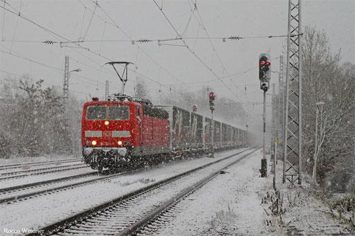 181 204 mit GA 62406 Saarbrücken Rbf Nord - Dillingen(Saar) (Sdl. Automobillogistik), Luisenthal 15.01.2016