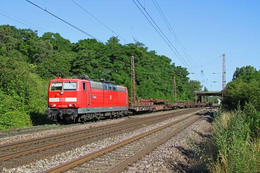 181 213 mit EK 55922 Saarrücken Rbf West - Dillingen Hochofen Hütte, Saarlouis-Roden 07.07.2016