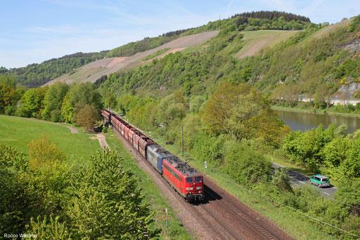 151 014 + 151 079 mit GM 60298 Dillingen Zentralkokerei - Oberhausen West Orm, Saarburg 27.04.2018