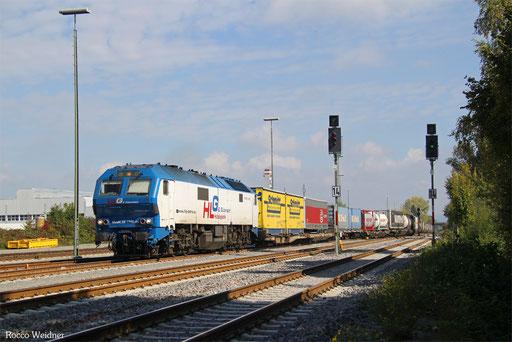 251 006 mit DGS 40973 Ludwigshafen (Rhein) BASF Ubf - Basel SBB RB Gr. A  (Sdl., Rastatt Umleiter), Friedrichshafen 27.09.2017