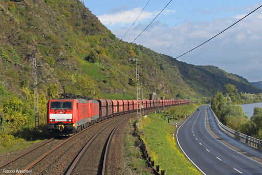 DT 189 030 + 189 034 GM 48713 Maasvlakte Oost - Dillingen Hochofen Hütte, Cochem 15.10.2013