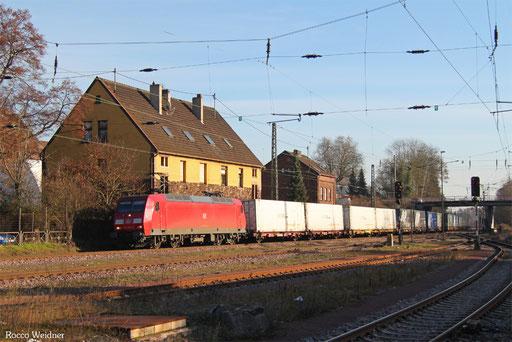 145 025 mit GA 52971 Saarbrücken Rbf Nord - Berlin-Lichterfelde West, Bous(Saar) 14.12.2016