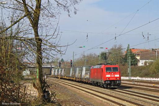 185 207 mit GA Berlin-Lichterfelde West - Saarbrücken Rbf Nord, Burbach 23.03.2017