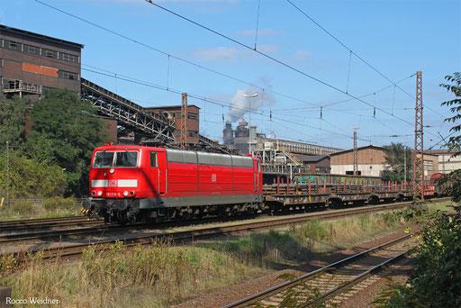 181 218 mit EK 55923 Dillingen Hochofen Hütte - Saarbrücken Rbf Nord,  23.09.2013