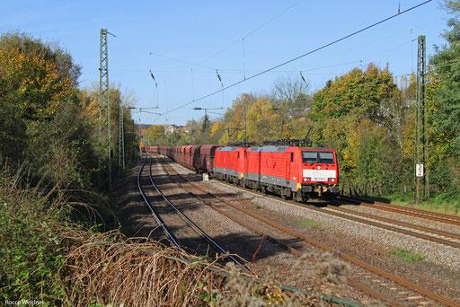 DT 189 044 + 189 038 mit GM 48712 Dillingen Hochofen Hütte - Maasvlakte Oost/NL, Saarbrücken 01.11.2017