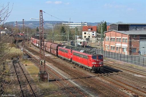 DT 151 147 + 151 004 mit GM 60295 Oberhausen West Orw - Dillingen Zentralkokerei, Dillingen(Saar) 24.03.2018