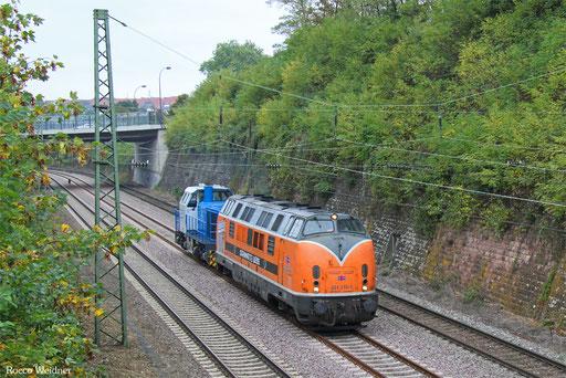 221 135 als Tfzf(D) 93569 Hattingen(Ruhr) - Saarbrücken Rbf Nord (Sdl.), 04.10.2016