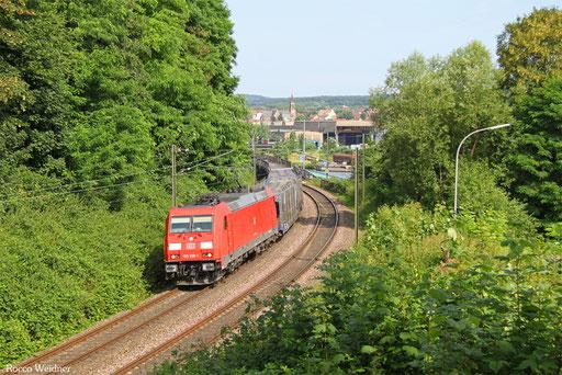 185 296 mit EK 55981 Fürstenhausen - Saarbrücken Rbf Nord, 22.07.2016