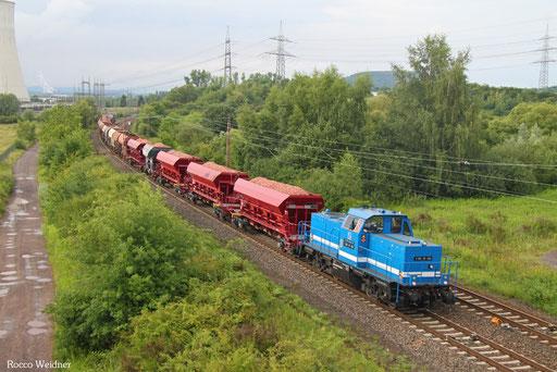 214 018 mit DGV 94868 Dillingen-Katzenschwänz - Saarbrücken-Burbach (Sdl.), Ensdorf(Saar) 11.07.2017