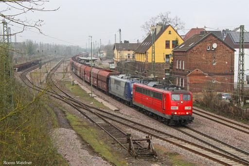 DT 151 147 + 151 143 mit GM 48745 Rotterdam Masvlake  - Neunkirchen(Saar) Hbf, Bous 26.03.2016