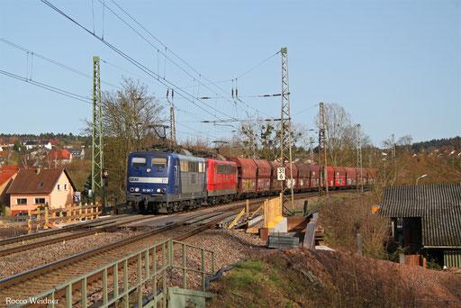 DT 151 081 + 151 031 mit GM 60299 Dillingen Zentralkokerei Oberhausen West Orm, Beckingen 12.03.2017