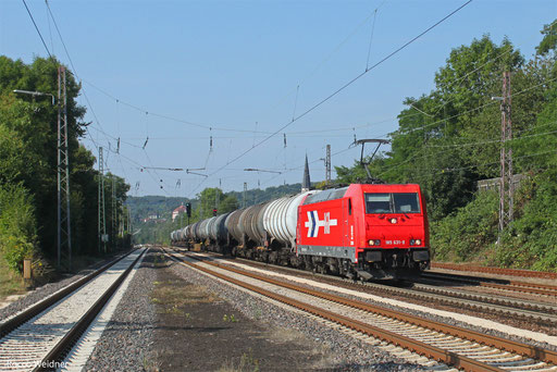 185 631 mit DGS 95035 Ehrang Nord - Karlsruhe Rheinbrücke Raffinerie, Dudweiler 29.08.2013
