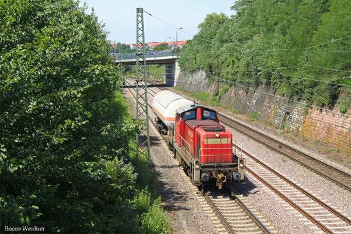 294 612 mit EK 55381 Fürstenhausen - Saarbrücken Rbf Nord (Sdl. Ammoniak), 06.07.2017