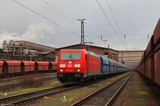 185 299 mit GM 45481 Dillingen Hochofen Hütte - Guben (Czerwiensk/PL) (Sdl.), 28.12.2017