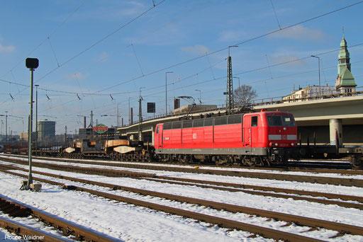 181 213 mit EK 55451 Völklingen Walzwerk - Saarbrücken Rbf Nord, Völklingen 02.12.2017