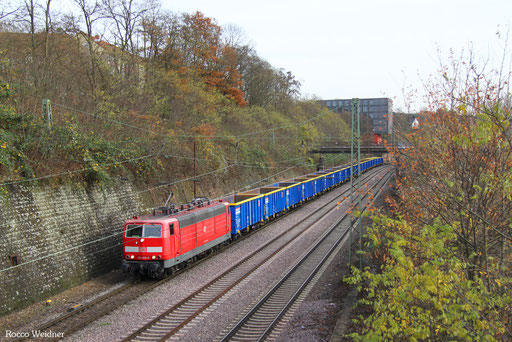 181 205 mit GC 44396 (Ceska Trebova) Decin vychod/CZ - Forbach/F (Metz Sablon) (Sdl. NHM 8606), Saarbrücken 24.11.2016