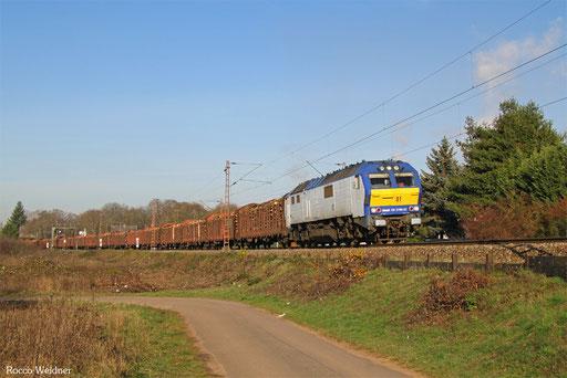 251 001 mit DGS 69528 Bebra Umladebahnhof - Saarlouis Hbf (Sdl.), 30.11.2016
