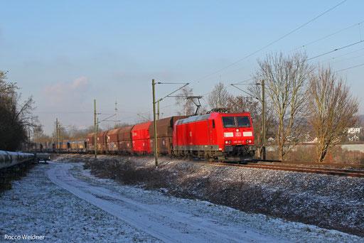 185 196 mit EK 55981 Fürstenhausen - Saarbrücken Rbf Nord, Gersweiler 14.01.2013