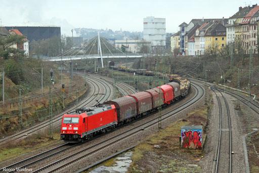 185 256 mit EK 55453 Völklingen Walzwerk - Saarbrücken Rbf Nord, 31.01.2017