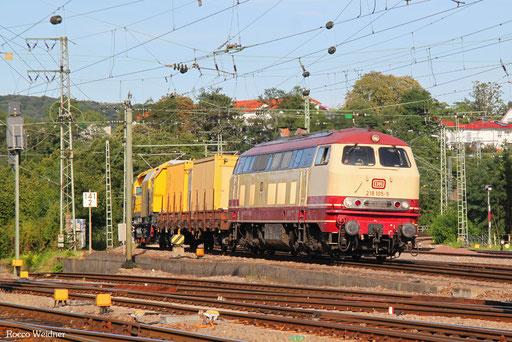 218 105 mit DGV 86822 München Nord - Dillingen(Saar) (Sdl.), Saarbrücken 08.08.2017