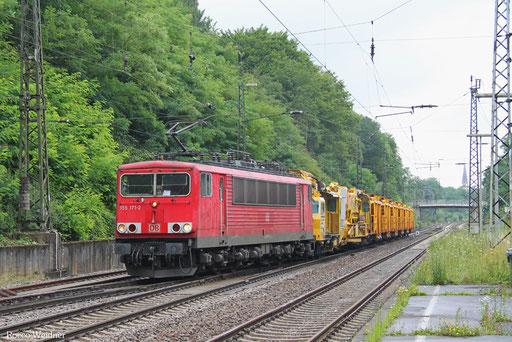 155 171 mit GB 98373 (Rzepin/PL) Oderbrücke - Saarbrücken Rbf Nord (Sdl. Gleisbaumaschine), 25.07.2017