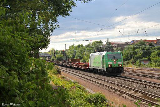 185 389 mit EK 55410 Dillingen Hochofen Hütte - Saarbrücken Rbf Nord, SB-Burbach 12.07.2017