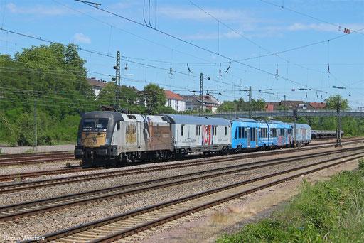 182 523 mit DbZ 92189 Geislingen(Steige) - Trier Hbf (Sdl. Überführung Coradia Lint), Saarbrücken-Burbach 11.06.2017