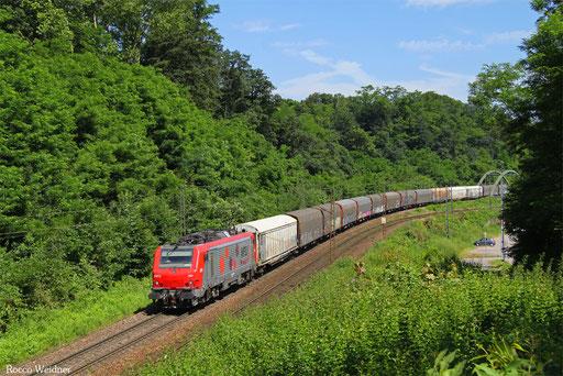 BB37013 mit DGS 47214 Worms Gbf - Forbach/F, Saarbrücken 07.07.2014