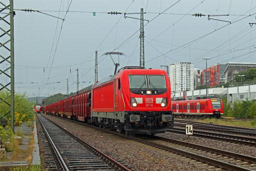 187 115 mit EZ 51918 Manheihm Rbf Gr.G - Saarbrücken Rbf Nord, Kaiserslautern 18.08.2017