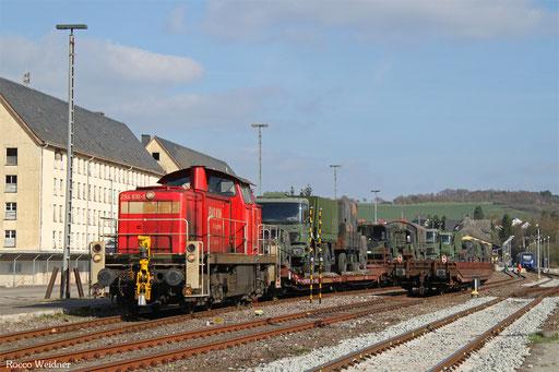 294 616 mit M 62606 Baumholder - Neunkirchen(Saar) Hbf (Bodenwöhr Nord) (Sdl. Militärgut) , 06.04.2017