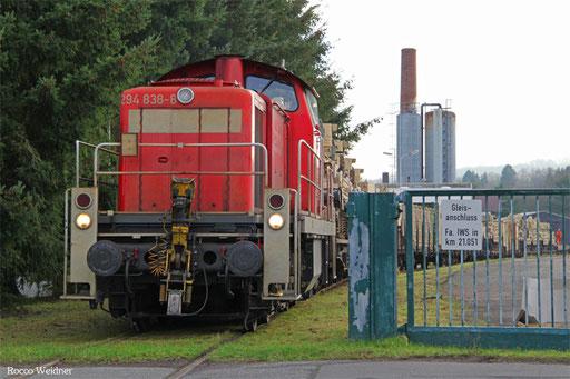 Werkstor der Firma IWS in km 21,051 der ehmaligen Strecke nach Kusel.