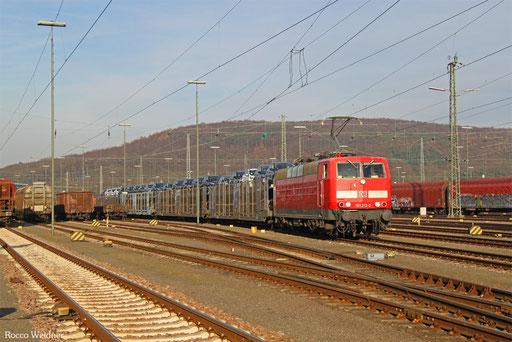 181 213 mit GA 62400 Saarbrücken Rbf West - Dillingen Ford (Sdl. Autowagen), 08.12.2016