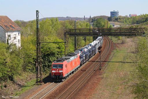 185 036 mit GA 49258 Einsiedlerhof - Hendaye/F, Neunkirchen(Saar) 20.04.2017