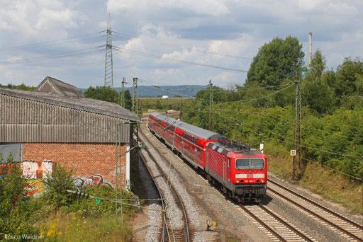 143 958 mit RE-D 12010 Koblenz Hbf - Saarbrücken Hbf, Bous 13.08.13