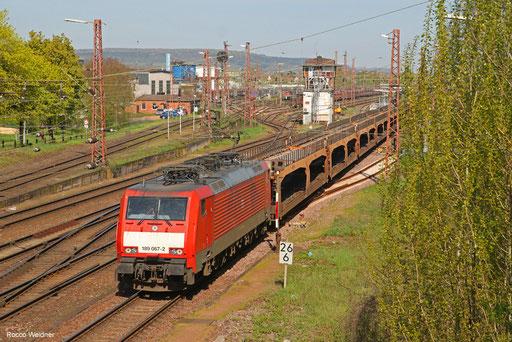 189 067 mit GA 44792 Vlissingen Sloehaven - Dillingen Ford (Sdl.), Dillingen(Saar) 18.04.2018