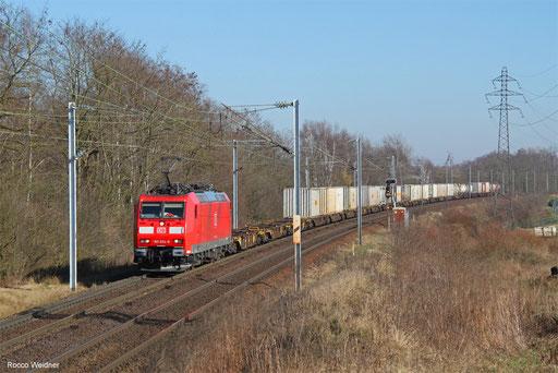 185 034 mit KT 42274 Ludwigshafen (Rhein) BASF Ubf - Le Havre/FR, Morsbach (Moselle) 14.02.2018