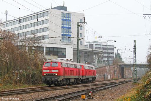 218 003 (im Schlepp 225 073) als T 67907 Einsiedlerhof - Saarbrücken Hbf (Sdl.). 0512.2016