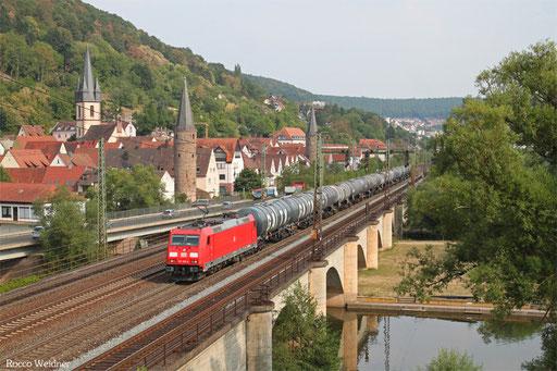 185 368 mit GC 61030 ESSO Werkbahnhof - Speyer Hbf