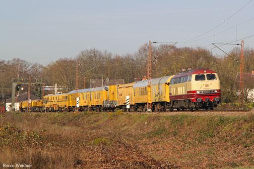 218 105 mit DGV  78907 Ehrang Mitte - Müllheim(Baden) (Sdl.), Saarlouis 30.11.2016