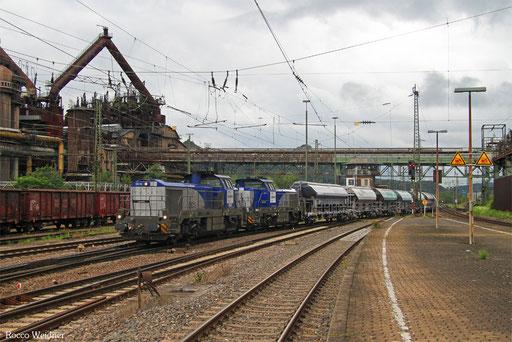DT 4185 010 + 4185 011 mit DGS 91337 Hörlecke - Völklingen (Sdl.), 10.08.2017