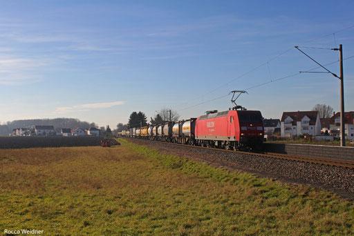 145 056 mit KT 98804 (Barcelona centr/E) Forbach/F - Ludwigshafen BASF Ubf  (Sdl. KV ex. 40993) ,Oggersheim 16.12.2013
