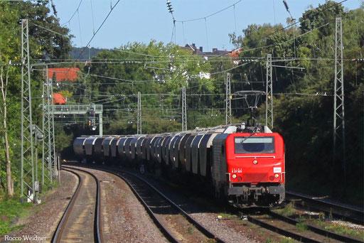 BB37501 mit DGS 41238 Forbach/F - Erfurt Gbf (Sdl. Getreide), Saarbrücken 02.09.2013