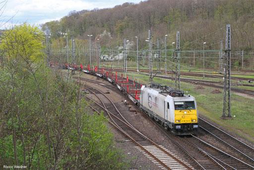 186 164 mit GM 44422 Maschen Rbf Mswf - Forbach (Sdl.), Saarbrücken 14.04.2018